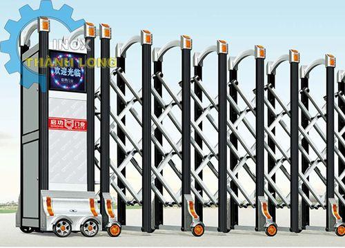 Thi Công Cổng Xếp Điện Inox | Cam Kết Bảo Hành Dài Hạn