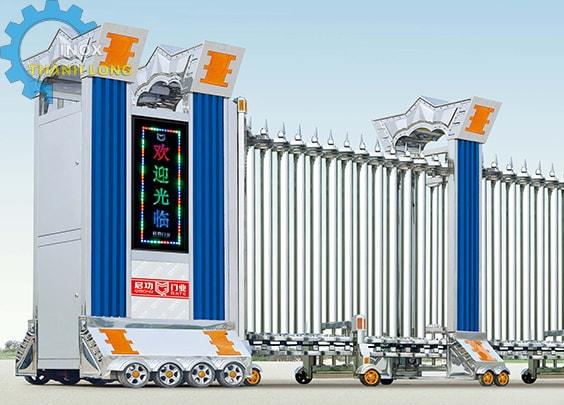 Cổng xếp inox nhập khẩu QG-J1601