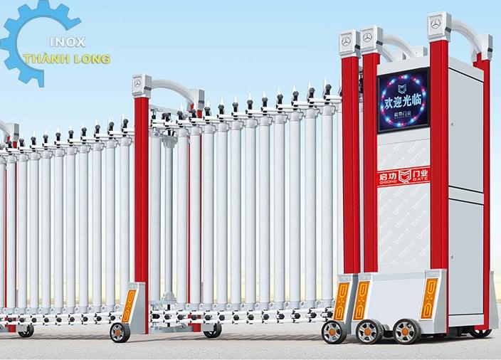 Cổng xếp nhôm nhập khẩu QG-L1611