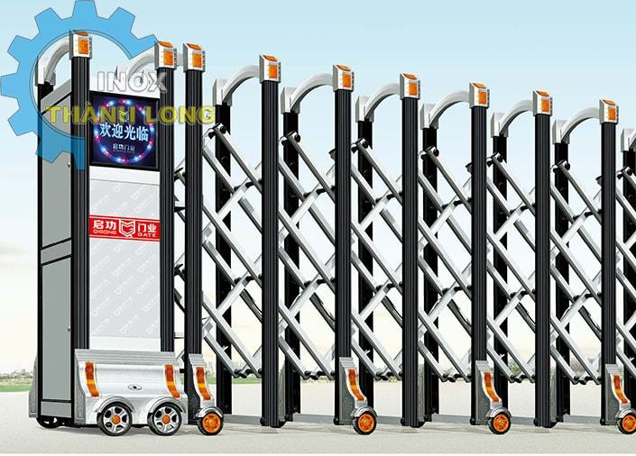 Cổng xếp nhôm nhập khẩu QG-L1618