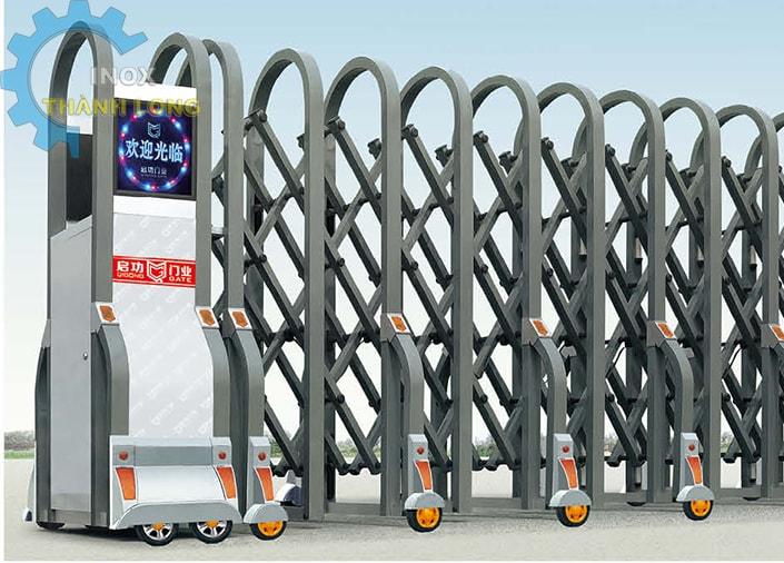 Cổng xếp nhôm nhập khẩu QG-L1633
