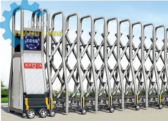 Cổng xếp nhôm nhập khẩu QG-L1634