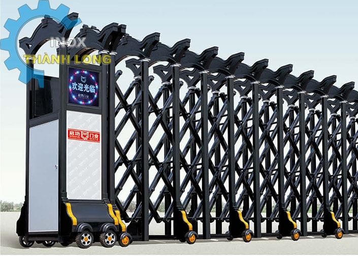 Cổng xếp nhôm nhập khẩu QG-L1637